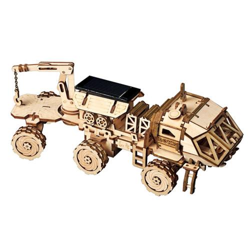 """""""Navitas Rover"""" *Solar Powered* Wooden Model Kit   Rokr"""