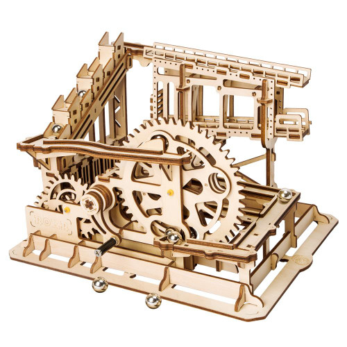 """Marble Squad"" Cog Coaster Mechanical Wooden Marble Run Kit 