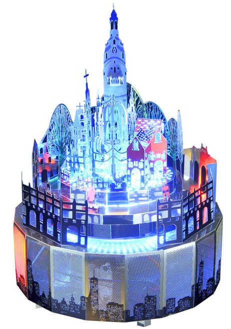 Castle - Metal Music Box DIY Kit | Microworld