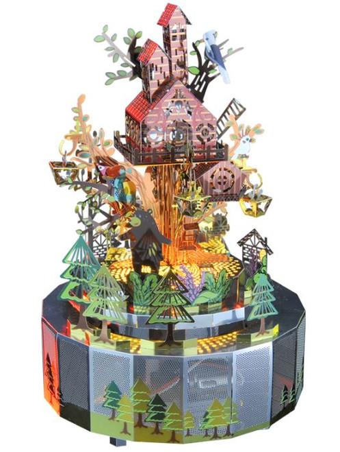 Forest Rhapsody - Metal Music Box DIY Kit   Microworld