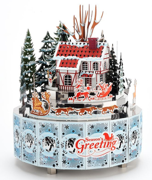 Winter Snow Scene - Metal Music Box DIY Kit | Microworld