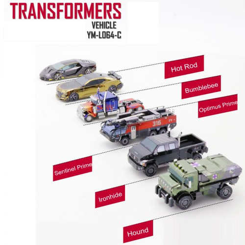 Transformers Micro Vehicles Set of 6 Metal Model Kits | MU Model