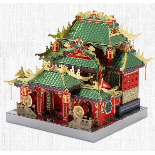 China Town Gongfu (Kung Fu) Building Metal Model Kit [Includes LEDs & Battery] | MU Model