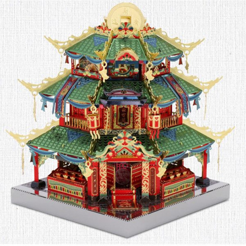 China Town Tower of Treasure Metal Model Kit [Includes LEDs & Battery!] | MU Model