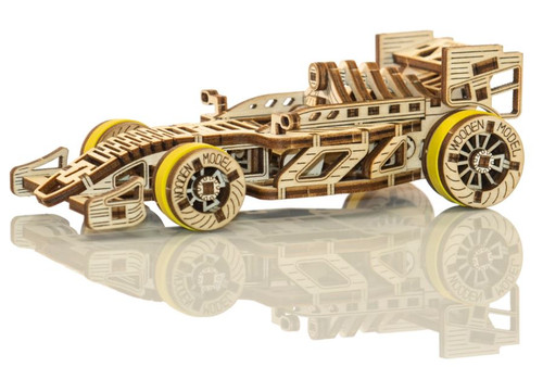 Bolid Race Car Mechanical Wooden Model Kit | Wooden City