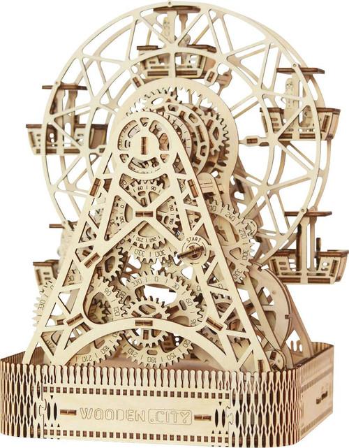Ferris Wheel Mechanical Wooden Model Kit | Wooden City