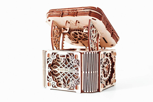 Mystery Box (Treasure) Mechanical Wooden Model Kit | Wooden City