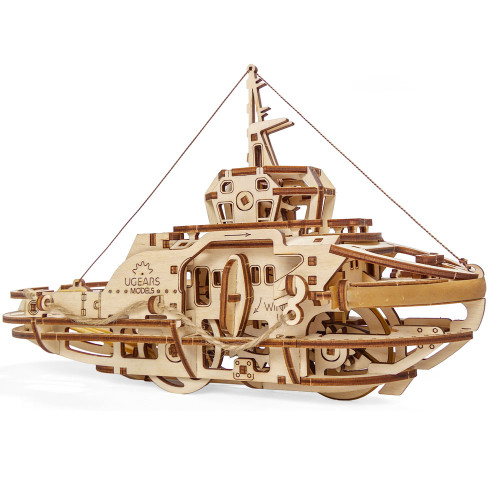 Tugboat Mechanical Wooden Model Kit | UGears