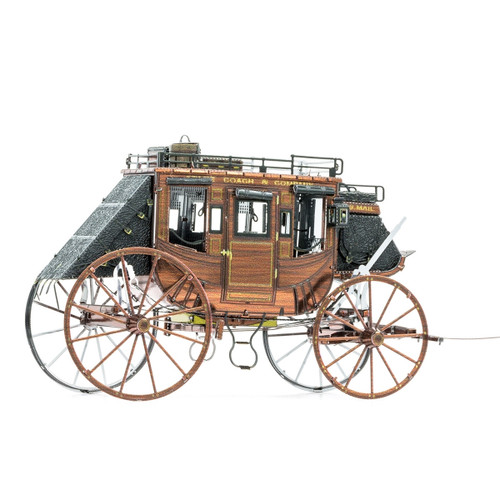 Wild West Stagecoach Metal Earth Model