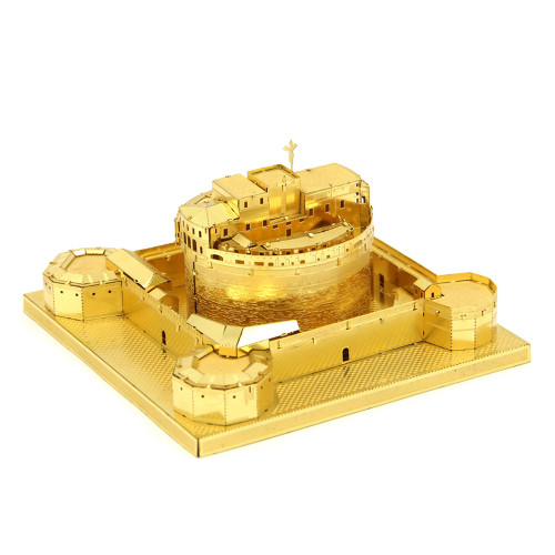 Castel Sant'Angelo, Rome - Gold - Metal Model Kit | Microworld