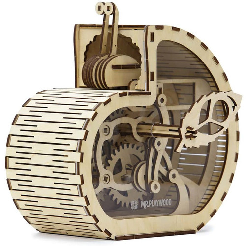 Snail Moneybox Mechanical Wooden Model Kit | Mr. Playwood