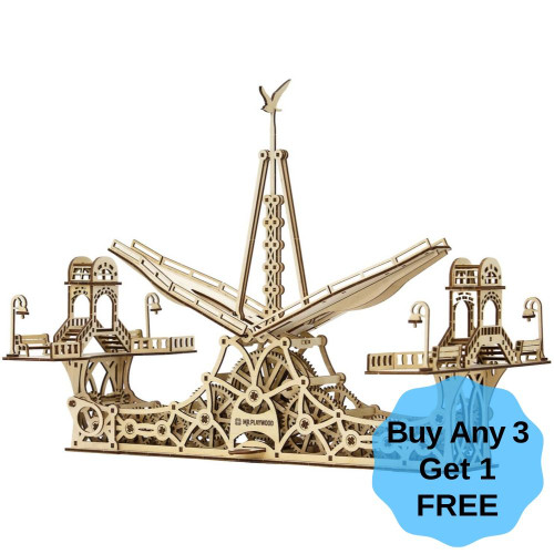Pedestrian Bridge Mechanical Wooden Model Kit   Mr. Playwood