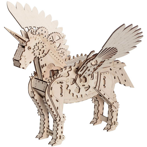 Unicorn Mechanical Wooden Model Kit | Mr. Playwood