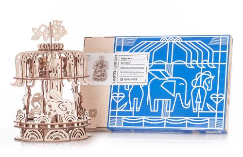 Carousel Mechanical Wooden Model Kit | Mr. Playwood