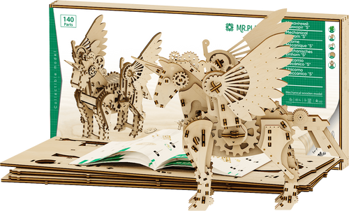 Unicorn *Small*  Mechanical Wooden Model Kit | Mr. Playwood