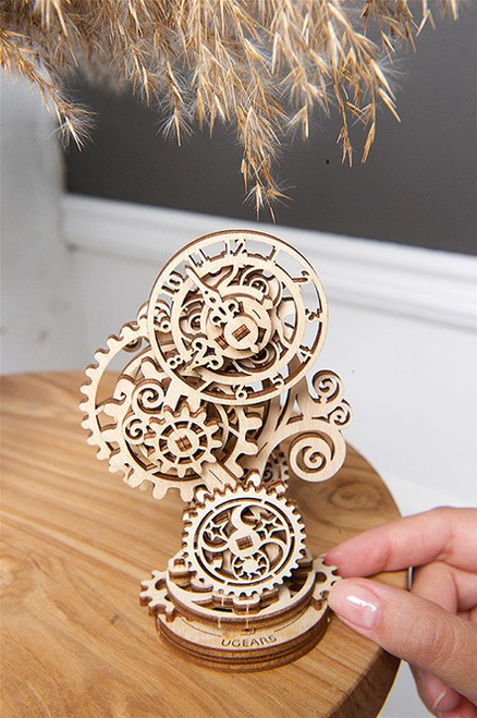 Steampunk Clock Mechanical Wooden Model Kit | UGears