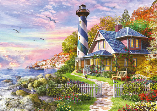 """""""Lighthouse at Rock Bay"""" 4000 Piece Jigsaw Puzzle   Educa"""
