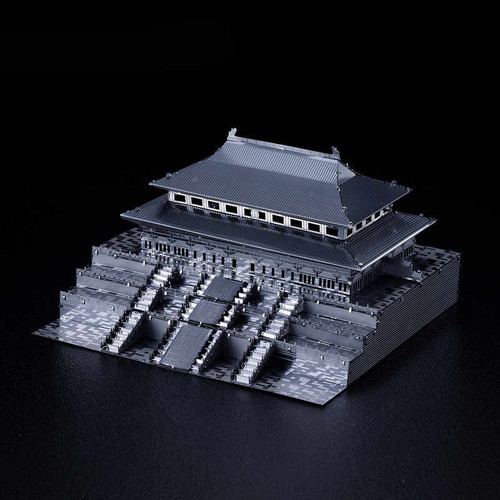 Forbidden City Palace Museum - Silver - Metal Model Kit | Microworld