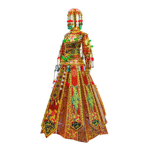 Chinese Wedding Dress - Bride - Metal Model Kit | Microworld