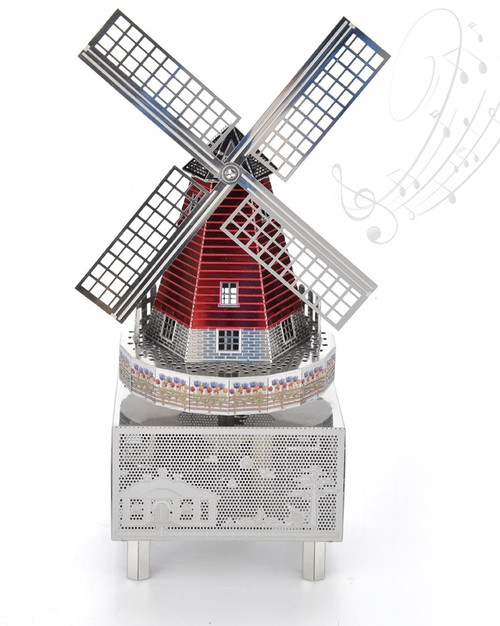 Dream Windmill - Metal Music Box DIY Kit | Microworld