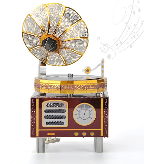 Retro Phonograph - Metal Music Box DIY Kit | Microworld