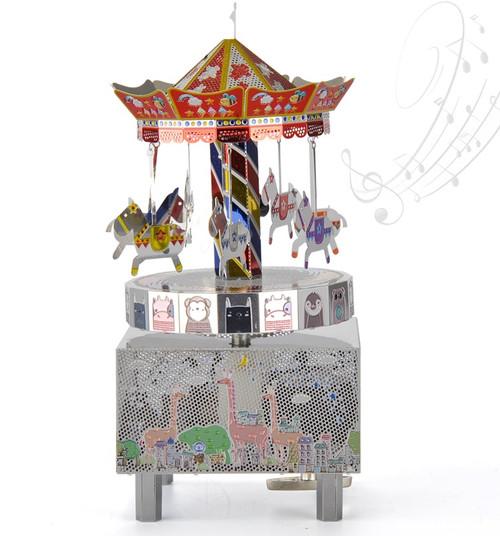 Merry Go Round - Metal Music Box DIY Kit | Microworld