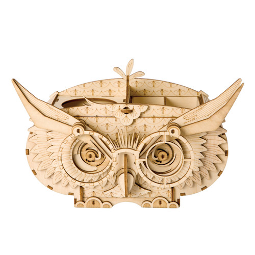 Owl Pencil Box Wooden DIY Craft Kit | Rolife