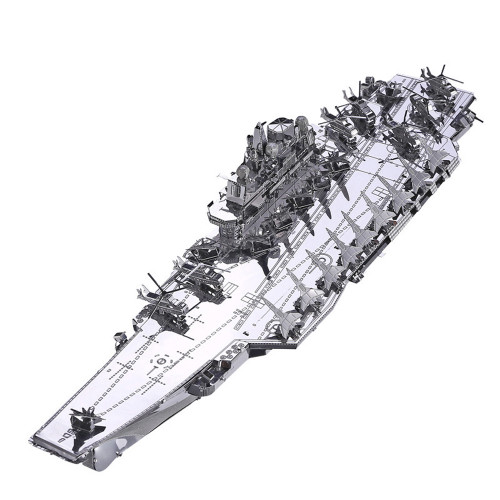Plan Liaoning CV-16 Aircraft Carrier - Silver Version - Metal Model Kit | Piececool