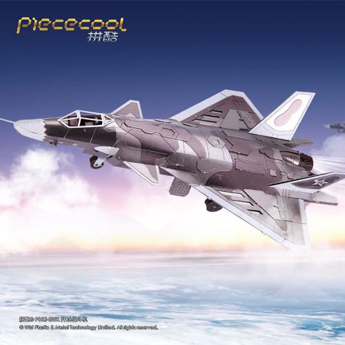 J20 Fighter Jet - Color - Metal Model Kit | Piececool