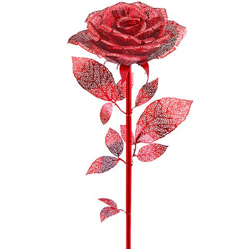 Red Rose Metal Model Kit | Piececool