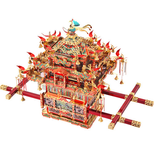 Bridal Sedan Chair Metal Model Kit | Piececool