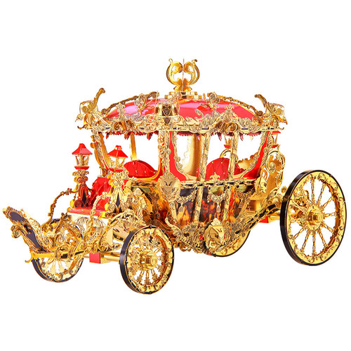 The Princess Carriage Metal Model Kit | Piececool