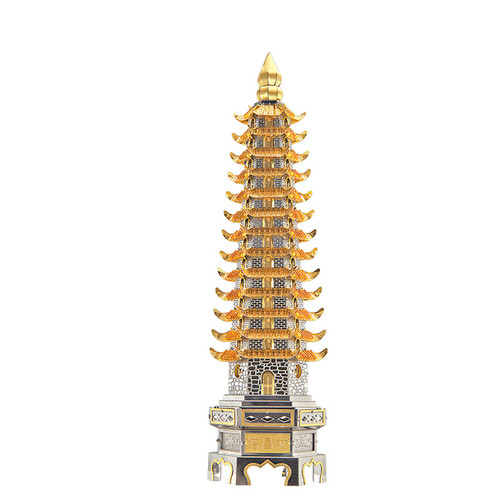 Wenchang Tower Metal Model Kit | Piececool