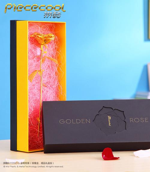 Golden Rose *Pre-Assembled* Metal Model Kit | Piececool