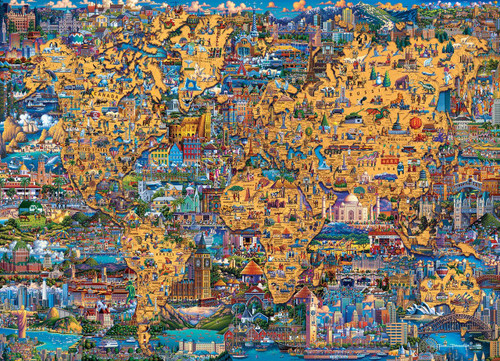 Best of the World 500 Piece Jigsaw Puzzle | Dowdle