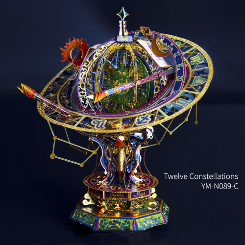 """Twelve Constellations"" Metal Model Kit [With LED Light!] 