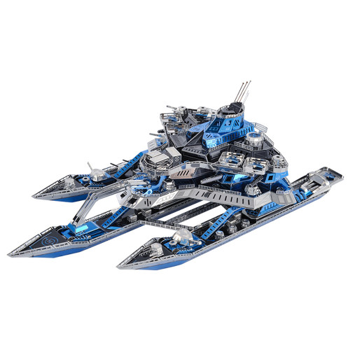 """Leader No.1 War Ship"" Metal Model Kit | Microworld"