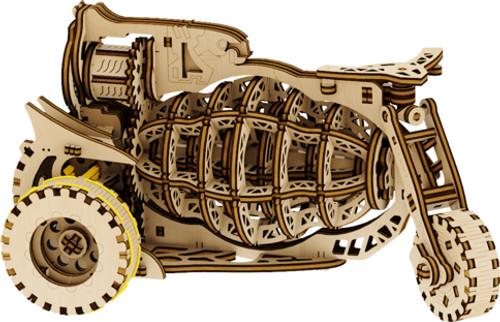 Kosmobike (Starbike) Mechanical Wooden Model Kit | Mr. Playwood