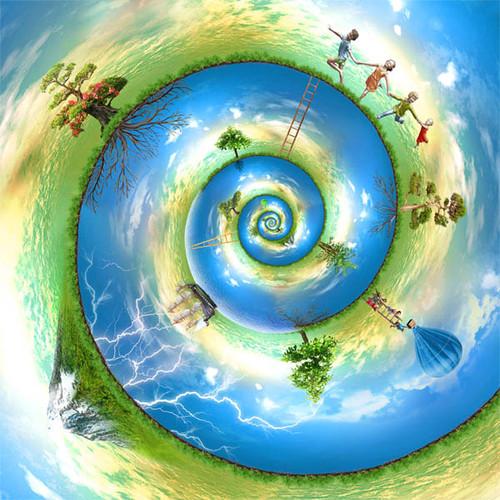 Happy Nautilus World 53 Piece Small Children's Wooden Jigsaw Puzzle | Zen Puzzles