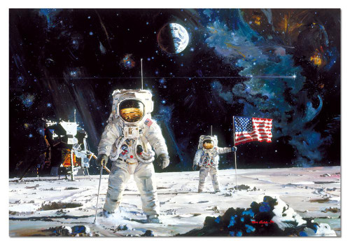First Men on the Moon 1000 Piece Jigsaw Puzzle | Educa