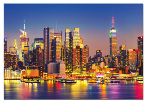Manhattan at Night 1500 Piece Jigsaw Puzzle | Educa