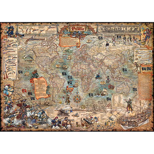 Pirate World 2000 Piece Jigsaw Puzzle | Heye