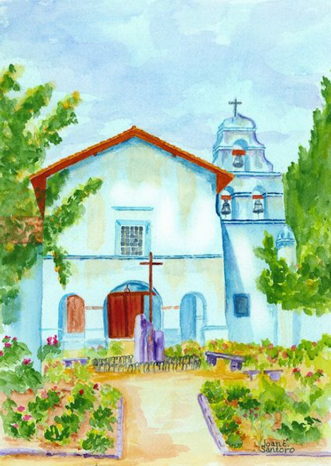"""Mission San Juan Bautista 350 Piece """"Standard Cut"""" Wooden Jigsaw Puzzle 