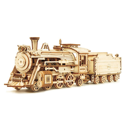 Prime Steam Express 1:80 Wooden Train Model Kit | Rokr
