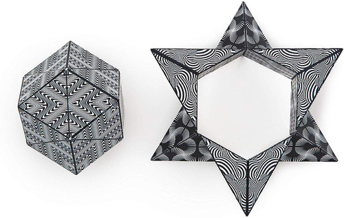 Geometric Shape Shifting Magnetic Cube - Black & White | Shashibo