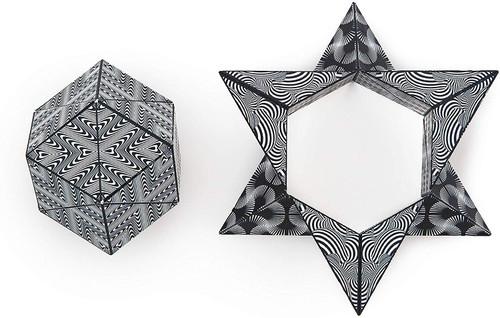 "Geometric Shape Shifting Magnetic Transformation Cube ""Black & White"" | Shashibo"