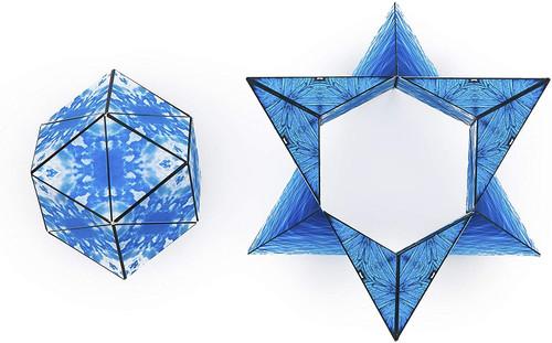 "Geometric Shape Shifting Magnetic Transformation Cube ""Blue Planet"" | Shashibo"