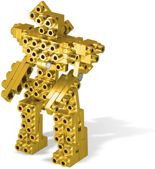 Mind³ - Aztec Gold - Metal Designer Building Blocks | 69pcs | Metomics