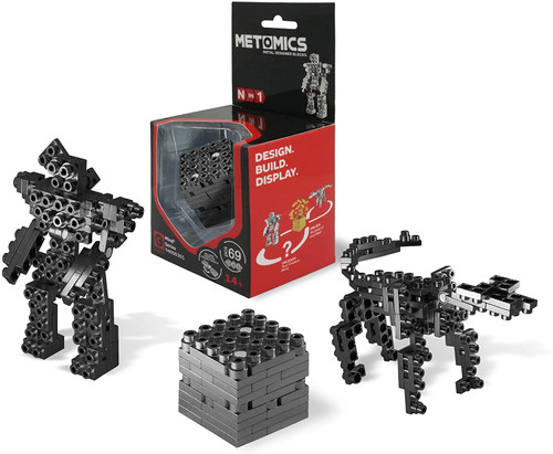 Mind³ - Charcoal - Metal Designer Building Blocks | 69pcs | Metomics