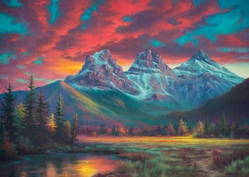 """Alberta's Three Sisters"" 1000 Piece Jigsaw Puzzle | Ravensburger"